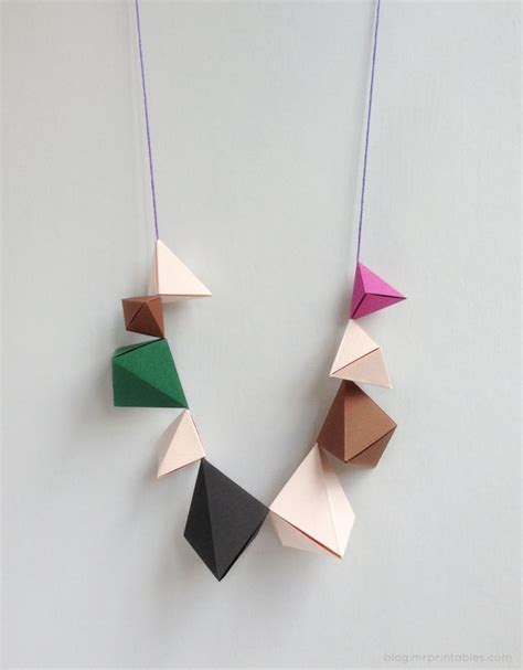 How To Make Paper Necklaces - 25 best ideas about origami necklace on