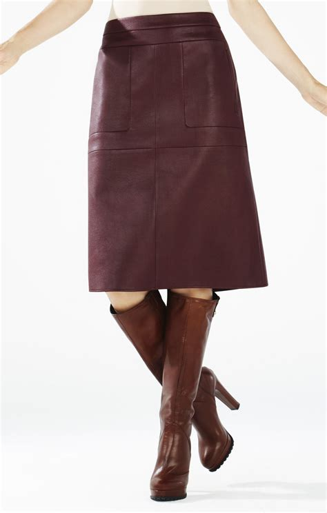 margaux faux leather a line skirt
