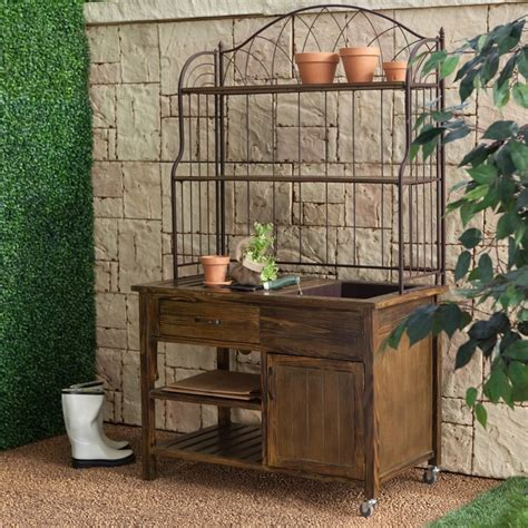 rustic potting bench coral coast courtyard rustic potting bench www