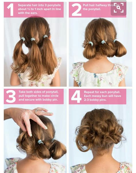 easy and quick hairstyles for school for short hair strange little buns strange flowers pinterest hair