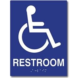 Ada Bathroom Sign by Ada Wheelchair Access Restroom Wall Sign Tactile Text