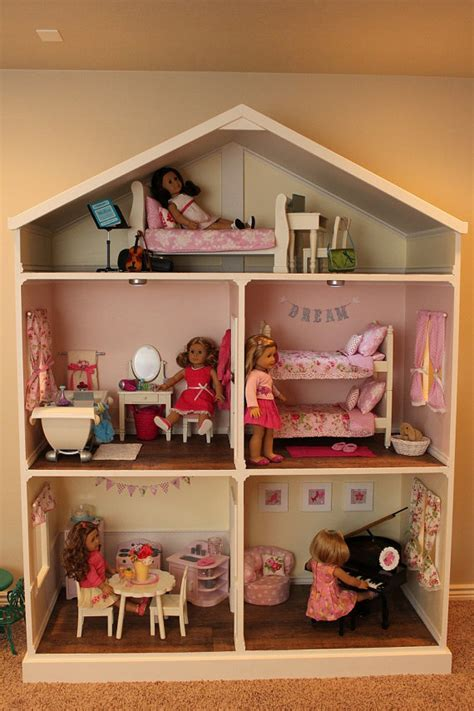 pictures of doll house doll house plans for american girl or 18 inch dolls 5 room