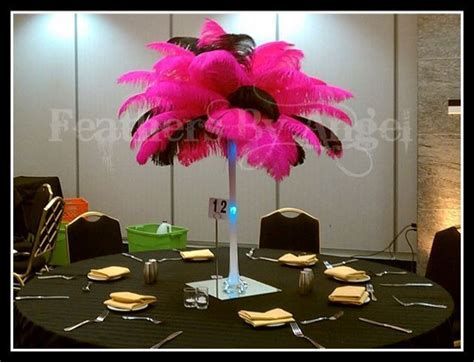 feather centerpieces for sweet 16 sweet 16 feather centerpieces feathers by s