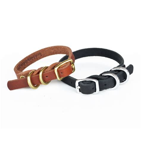 breeds d dainty collar d ring leather collar for small breeds