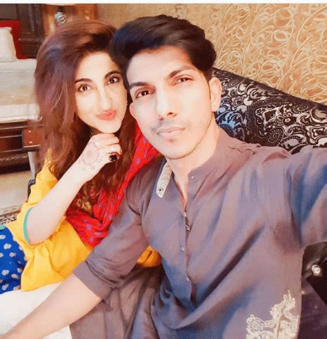 Mohsin Abbas Haider with his Wife Celebrating their 2nd