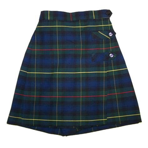 Plaid Skort skort 3 button plaid 55 harris school uniforms