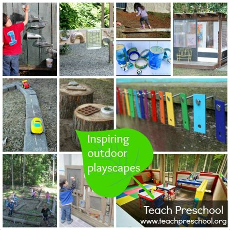 Inspiring outdoor playscapes   Teach Preschool