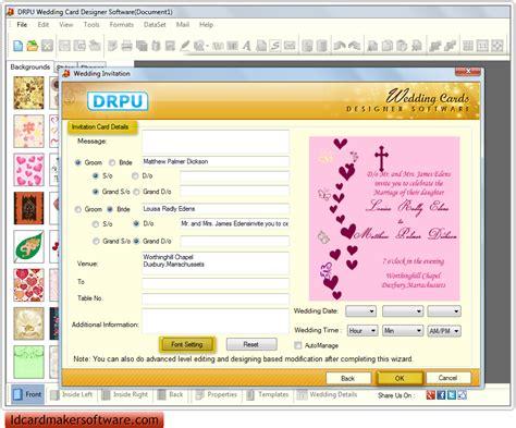 free invitation card creator software screenshots of wedding card maker software to design