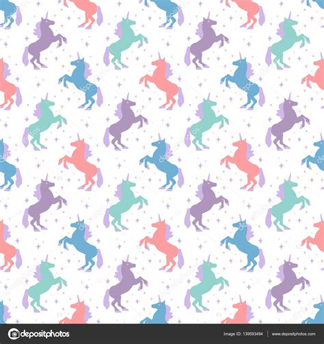 unicorn pattern background seamless pattern with unicorn silhouette vector