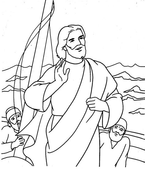 coloring page jesus calms the storm free coloring pages of water waves clipart