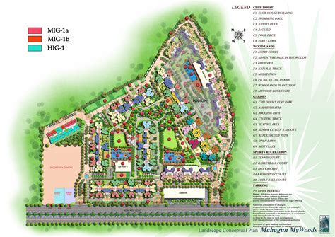 layout plan mahagun mywoods phase 1