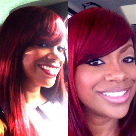 kandi burrus different hair colors real housewives of atlanta s kandi burruss is sporting