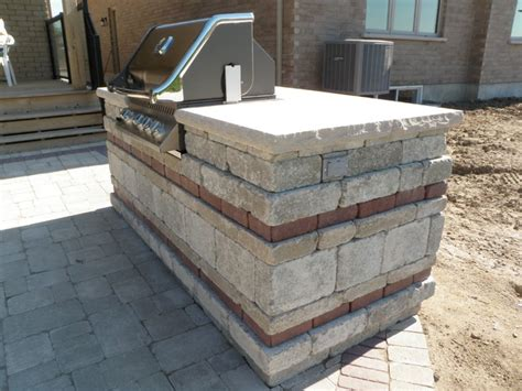 Paving Stones Toronto Paving Patio With Built In Bbq And Fireplace