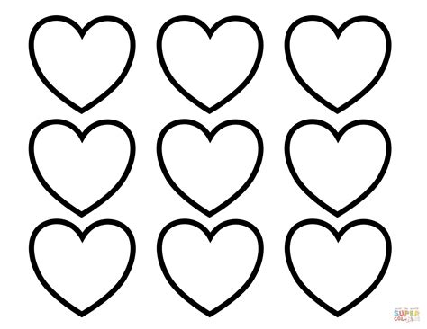 free coloring pages valentine hearts valentines day blank hearts coloring page free printable