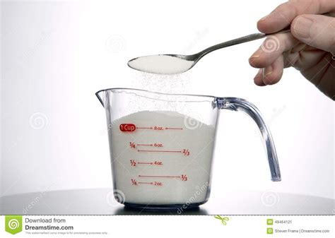 measuring a cup of sugar stock photo image 49464121