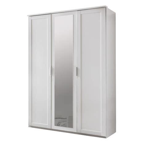Wooden Wardrobe With Mirror by Avira Wooden Mirror Wardrobe In Alpine White With 3 Doors