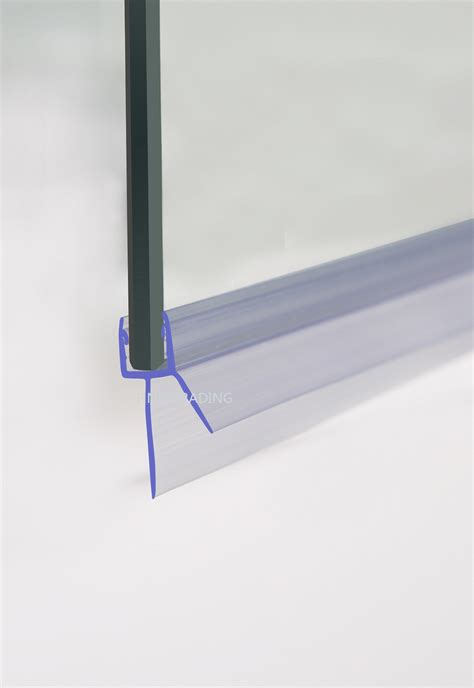 Shower Door Plastic Seal Curved Flat 4 6mm Glass Bath Door Shower Screen Seal Plastic 1 30mm Gap Ebay
