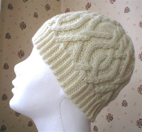 knit cable hat pattern interlocking cable hat by dawnbrocco knitting pattern