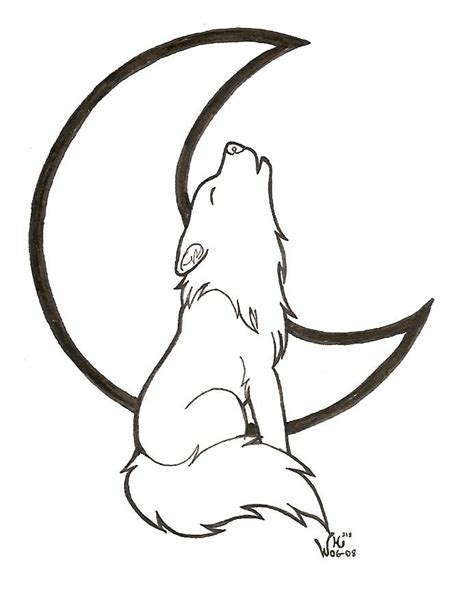Simple Wolf Outline by Wolf Outline Drawing Cliparts Co