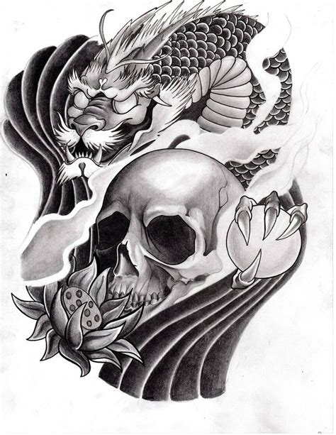 black skull tattoo designs 9 amazing japanese design ideas