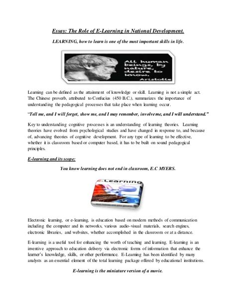 The Benefits Of Learning Essay by Benefits Of E Learning Essay Illustrationessays Web Fc2
