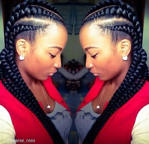 big cornrow braids big chunky cornrows so cute hair pinterest