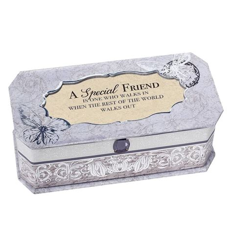 cottage garden musical jewellery box gift for special