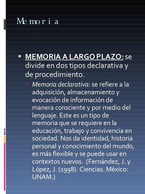 la memoria humana y la interpretaci 243 n procesos cognoscitivos