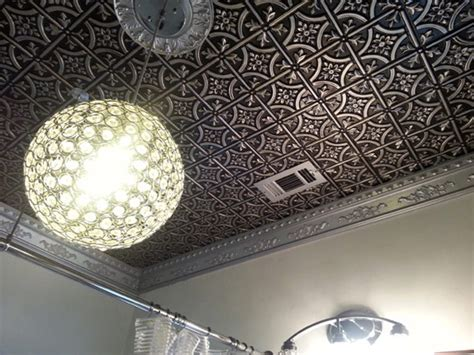 how to put up tin ceiling tiles bathroom dct gallery