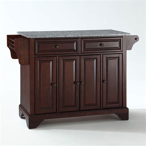 mahogany kitchen island lafayette solid granite top kitchen island in vintage mahogany finish crosley furniture is