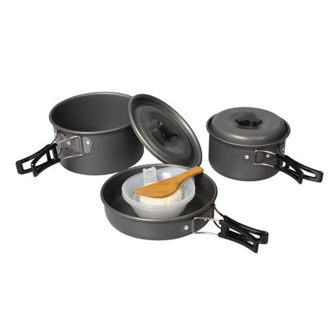 Panci Cook panci masak set outdoor 11pcs black jakartanotebook