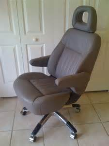 Office Chair Base For Car Seat Car Seat Transformed Into Executive Office Chair By The