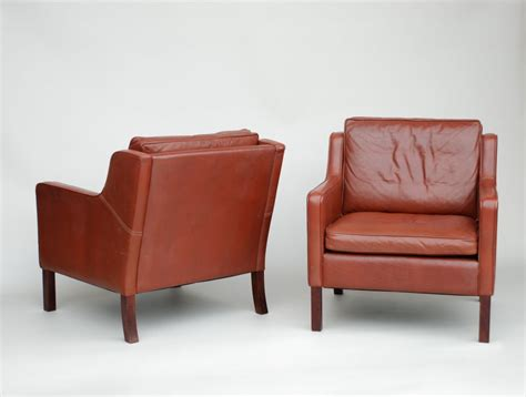 danish leather armchair pair of danish leather armchairs in the mogensen style