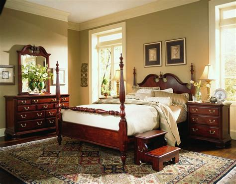 cherry bedroom furniture sets american drew cherry grove low poster bedroom set in cherry
