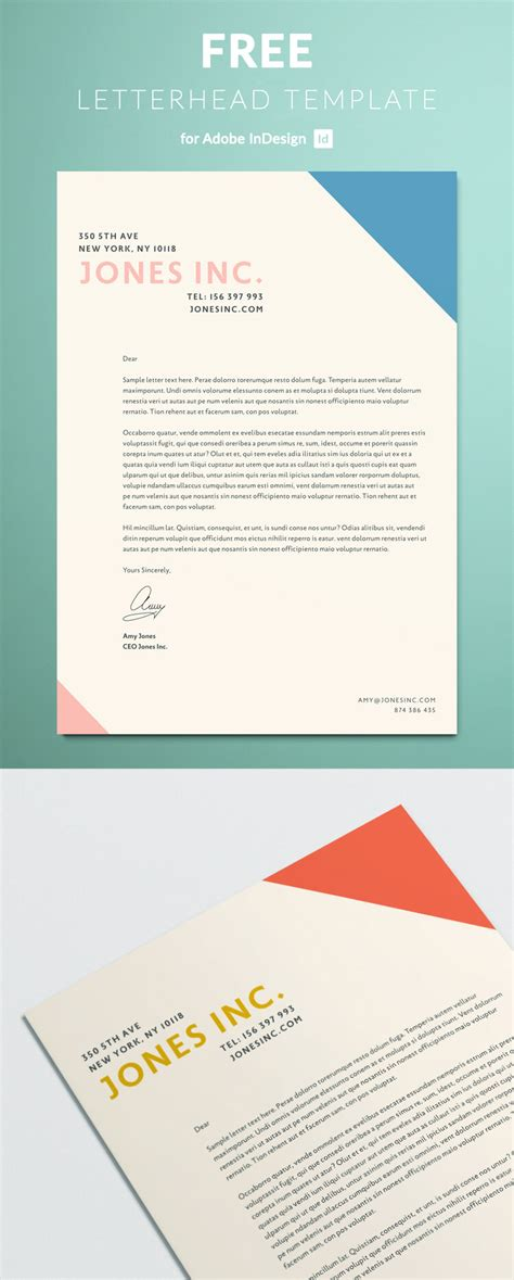 letterhead template indesign