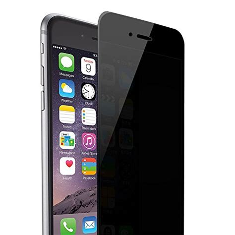 Tempered Glass Anti Iphone 4 Tempered Glass Black Iphone 4 skylarking iphone 6plus 6s plus privacy anti anti glare ballistic tempered glass hd 2 5d