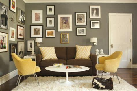 Gelbe Und Braune Wohnzimmer Ideen by Farbideen F 252 R Wohnzimmer 36 Neue Vorschl 228 Ge
