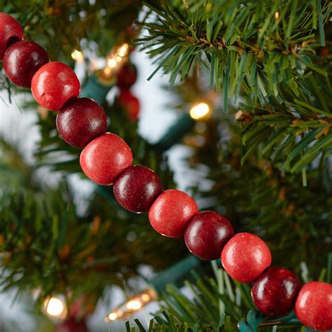 wood cranbery beads for christmas trees burgundy and cranberry wood bead garland garlands and winter