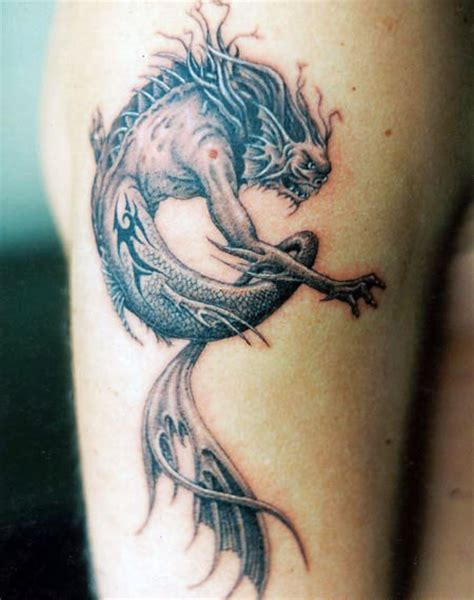 dragon tattoo represents brainsy heart dragon tattoo meaning