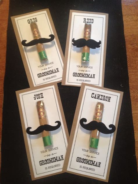 Handmade Groomsmen Gifts - diy cigar groomsmen gifts cool groomsman gifts