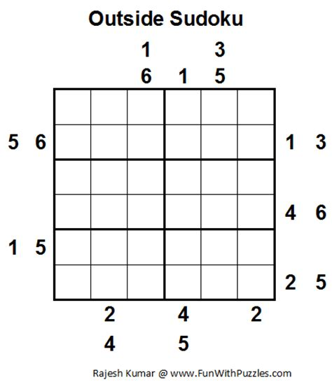 printable outside sudoku puzzles outside sudoku mini sudoku series 13 fun with puzzles