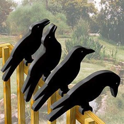 shadow silhouette crow shadow rail sitters woodworking
