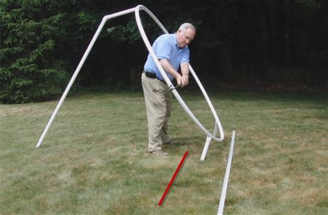 diy golf swing trainer swing tracks drill insures your swing plane is correct