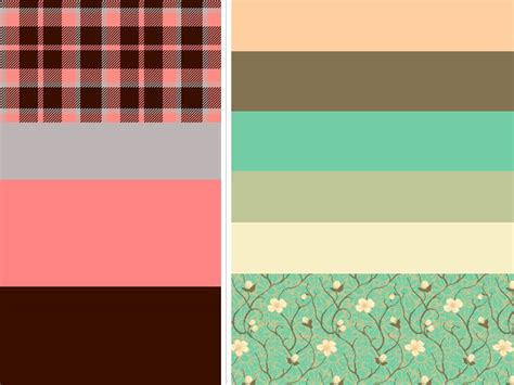 pattern color palette funky plaid pattern for a offbeat wedding romantic cherry