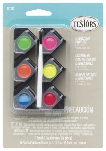 testors 174 6 color acrylic paint pod set fluorescent colors at menards 174