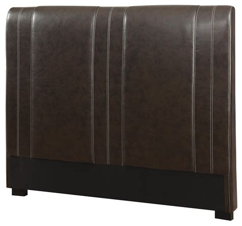 dark brown leather headboard coaster upholstered beds 300123tb1 twin caleb upholstered headboard in dark brown faux leather