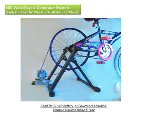 bicycle generator kit 300 watts dc pedal power generator