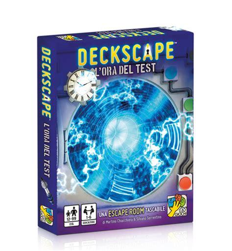 test giochi deckscape l ora test dv giochi giochi di carte