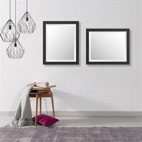home decorators collection mirrors home decorators collection 16 in x 20 in modern framed bevel mirror 346790162b the home depot
