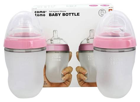 Comotomo Soft Hygienic Silicone Baby Botol 150ml With Flow 1 buy comotomo soft hygienic silicone baby bottle pack 3m pink 8 oz at luckyvitamin